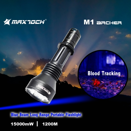 MAXTOCH Archer M1| Pocket size, long-range flashlight(Blue beam)