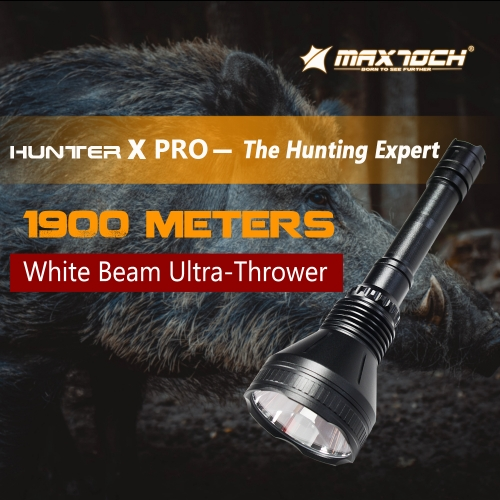 MAXTOCH  X PRO | 2000M hunting flashlight (OSRAM white beam LED)