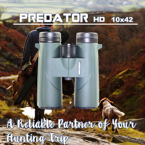 MAXTOCH PREDATOR HD 10x42 binoculars. A Reliable Partner of Your Hunting Trip.